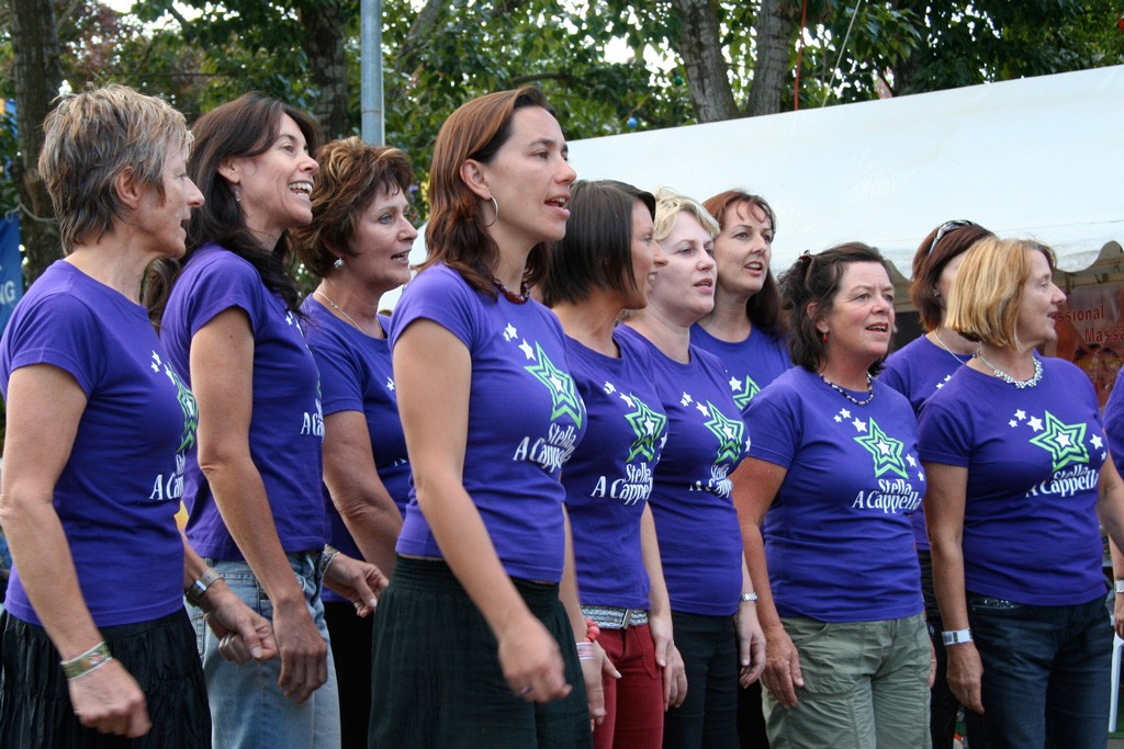 Stella A Cappella performing at the National Folk Festival in Canberra